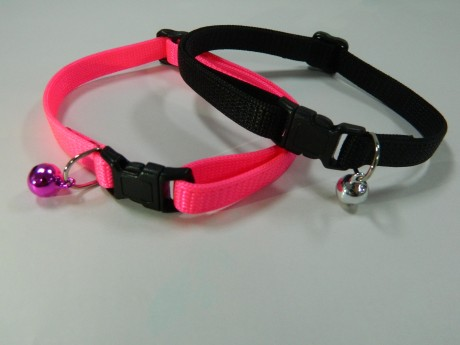 """Cat Collar, Breakaway Adjustable Cat Collar with Bell-3/8"""""""