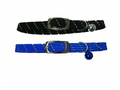 Cat Collar , Safety Stretch Reflective Cat Collars with Bell-3/8""